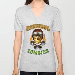 Badass Zombies Unisex V-Neck