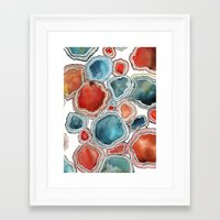agate Framed Art Prints featuring AGATE by Kelsey Eckstrom