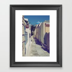 Santorini Walkway Framed Art Print