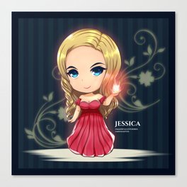 Jessica from Immortal Love Canvas Print