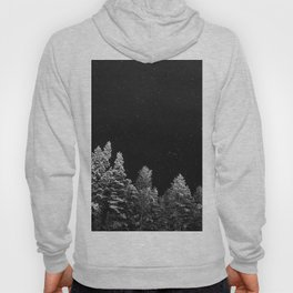 Stars and Pine Trees (Black and White) Hoody