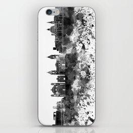 Valletta skyline in watercolor on white background iPhone Skin