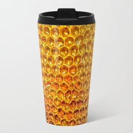 Yellow honey bees comb Travel Mug