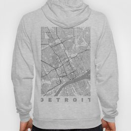 Detroit Map Line Hoody