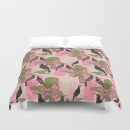 Huias and Proteas Duvet Cover
