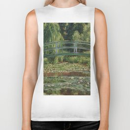 1899-Claude Monet-The Japanese Footbridge and the Water Lily Pool, Giverny-89 x 93 Biker Tank
