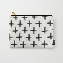 Painted Cross Pattern Carry-All Pouch