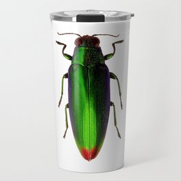 Chrysochroa Fulgidissima Jewel Beetle Travel Mug