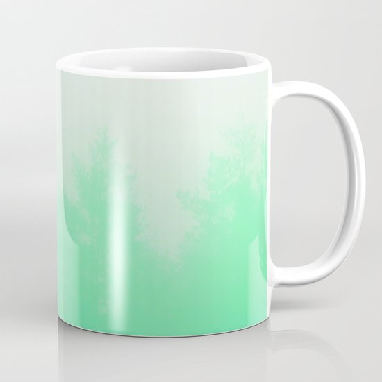 Out of focus - cool green Mug