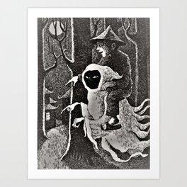 Spook illustration Art Print