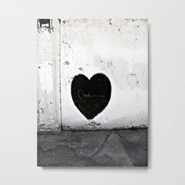Street Heart Metal Print