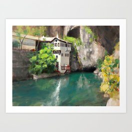Blagaj Reflections Art Print