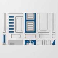 r2d2 Area & Throw Rugs featuring R2D2 by Alison Lee