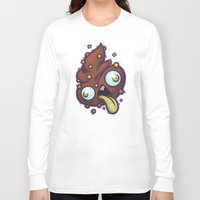 poop Long Sleeve T-shirts featuring Poop by Artistic Dyslexia