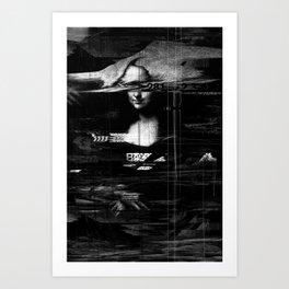Mona Lisa Glitch Art Print