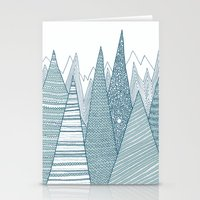 mountains Stationery Cards featuring Mountains by Anita Ivancenko