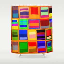 Rothkoesque Shower Curtain