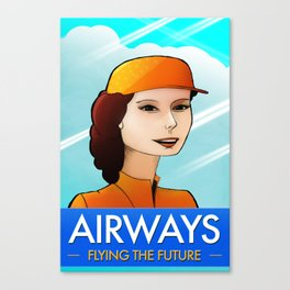 Stewardess Canvas Print