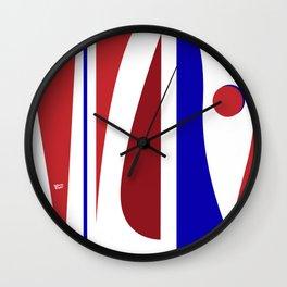 Dancing - Red and Blue #minimal #art #design #kirovair #buyart #decor #home Wall Clock