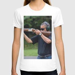 President Barack Obama Shoots Clay Targets at Camp David T-shirt