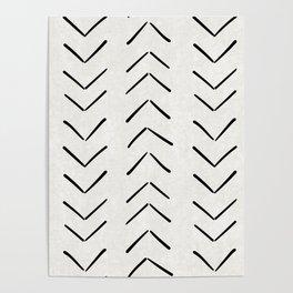 Mud Cloth Big Arrows in Cream Poster