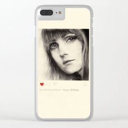 "Art Series ""Instagrammers on Paper"" 0005 Clear iPhone Case"