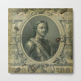 Ruble with Bugs Metal Print