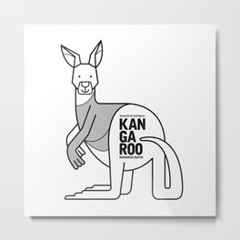 Kangaroo, Wildlife of Australia Metal Print