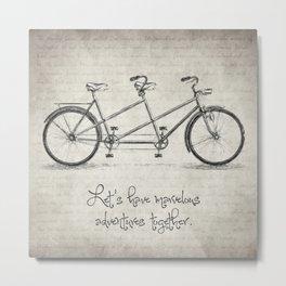 Bicycle Quote Metal Print