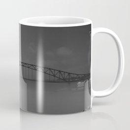 Julian Dubuque Bridge and the Mississippi River Coffee Mug