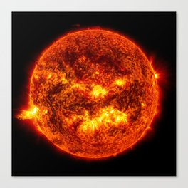The Surface of The Sun - Burning Star Canvas Print