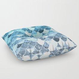 REALLY MERMAID SILVER BLUE Floor Pillow