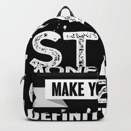 Stargazing makes you happy Space Gift Backpack