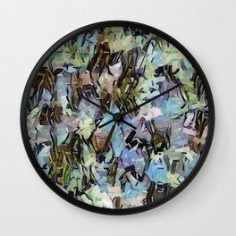 Abstract Confetti Landscape Wall Clock