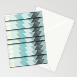 Mint Triangles Stationery Cards