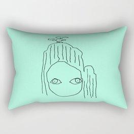 the mint mountain Rectangular Pillow