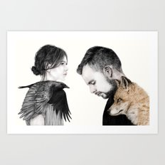 The Story About The Fox & The Crow Art Print