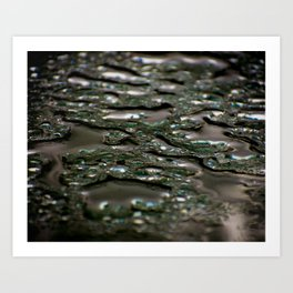 abstract drops in the rain Art Print
