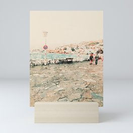 Mykonos Port Mini Art Print