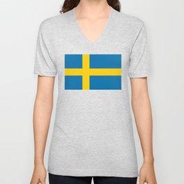 Swedish Flag - Authentic HQ Unisex V-Neck