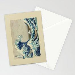 Great Wave Off Kanagawa (Kanagawa oki nami-ura or 神奈川沖浪裏) Stationery Cards