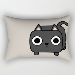 Cat Loaf - Black Kitty Rectangular Pillow