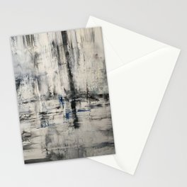 oil textured Black and White Stationery Cards