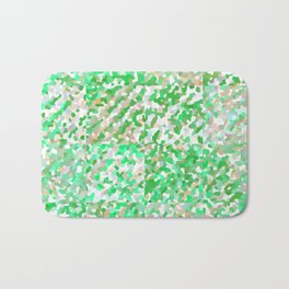 Green & Orange Delight (Squares) Bath Mat