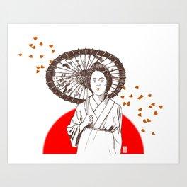 Farewell My Concubine Art Print