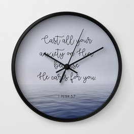 Cast All Your Anxiety on Him Wall Clock