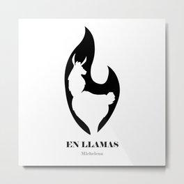 En LLamas Metal Print