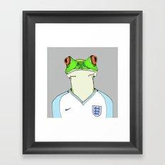 Football Frog Framed Art Print