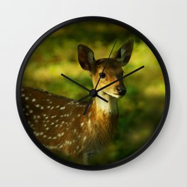 Little Bambi Deer Wall Clock