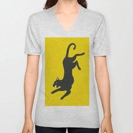 Yellow Panther Unisex V-Neck